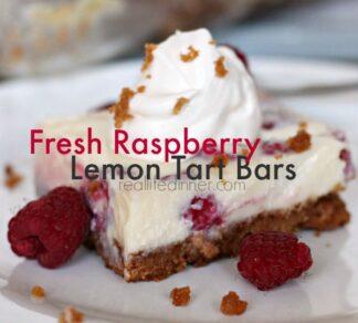 Fresh Raspberry Lemon Tart Bars
