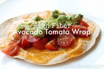 High-Fiber-Avacado-and-Tomato-Wrap-