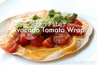High Fiber Avocado and Tomato Wrap