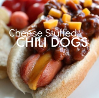 Cheese Stuffed Chili Dogs