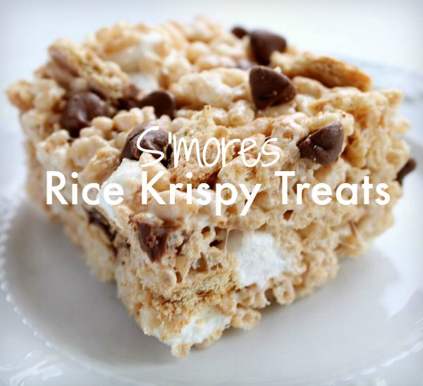 mores Rice Krispy Treats Recipe-Real Life Dinner | S'more Rice ...