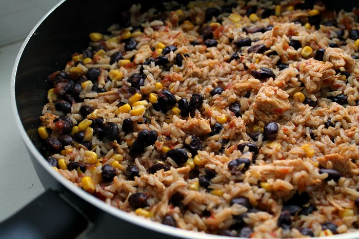 Chicken-Taco-and-rice-Skillet-dinner-one-pot