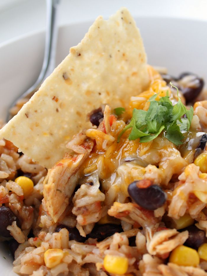 Chicken-Taco-and-rice-Skillet-dinner