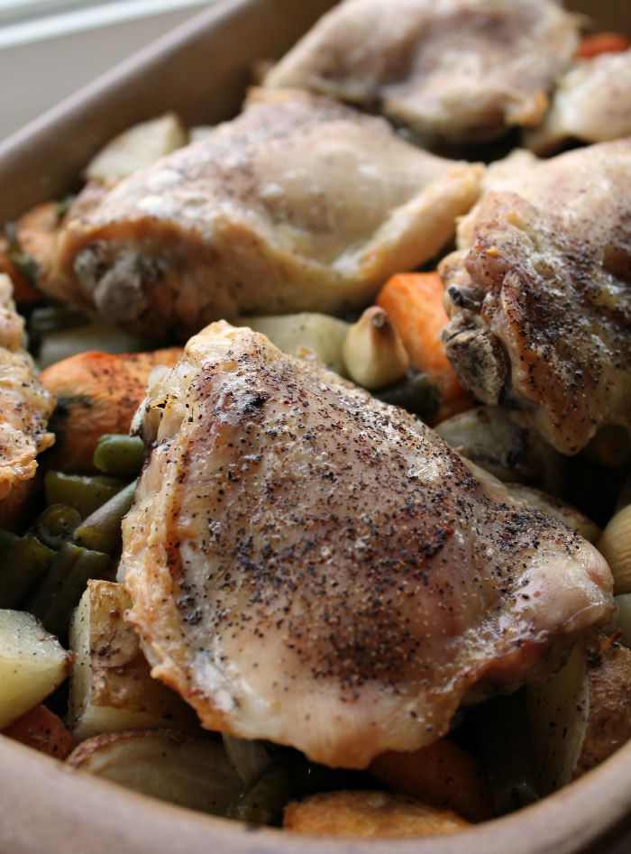 Chop-Toss-and-bake-Roasted-Veggies-with-Chicken-Thighs