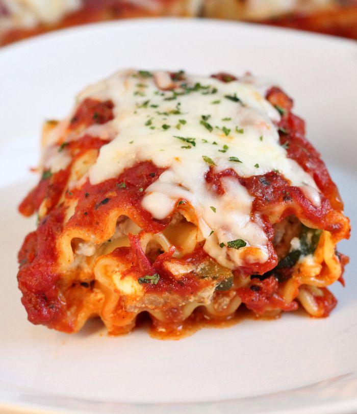 Sausage-and-zucchini-lasagna-roll-ups