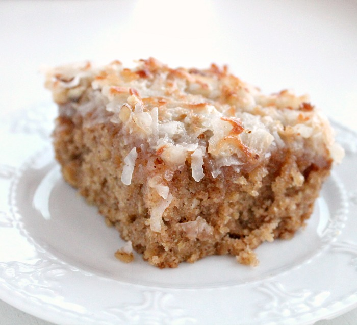 Old Fashioned Oatmeal Cake With Broiled Coconut Frosting
