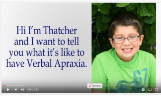 Video: Thatcher's Apraxia Story