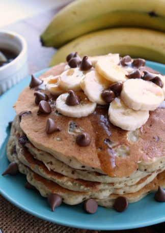 Diner-Style-Banana-Chocolate-Chip-Pancakes