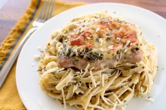 Pesto Parmesan Pork Chops