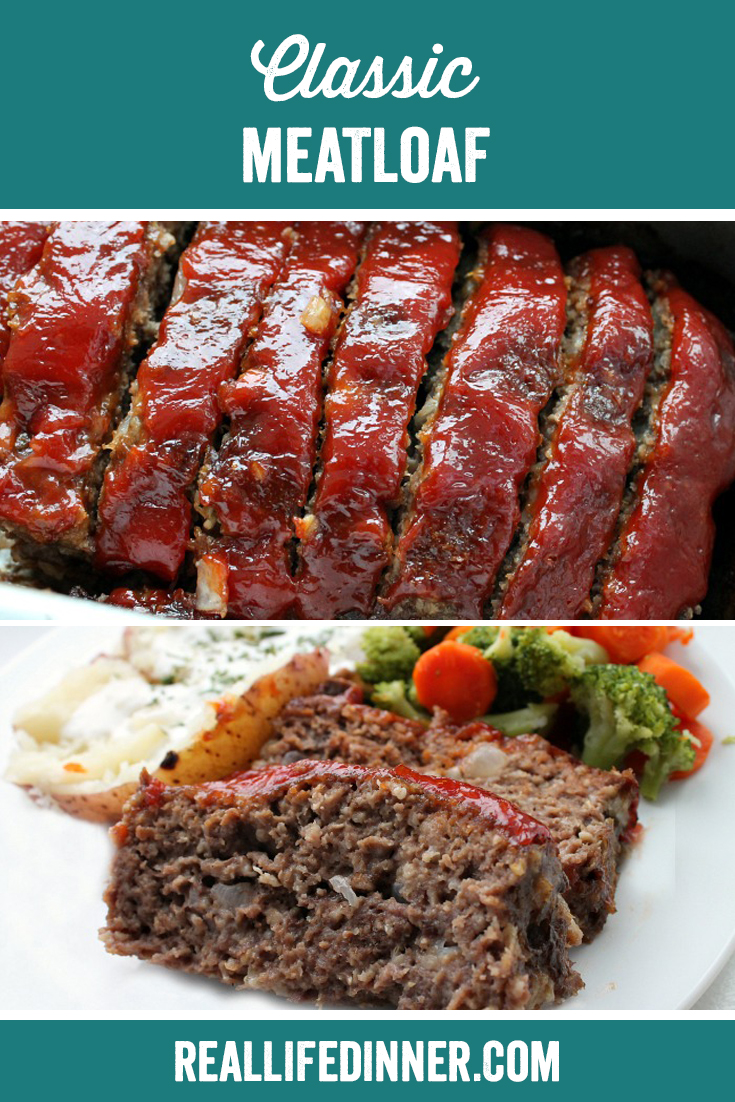 classic meatloaf two picture collage for pinterest