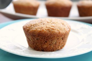 Whole Wheat Banana Muffins with Coconut Oil and Greek Yogurt