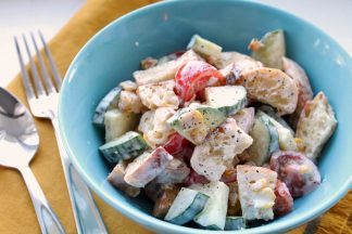 Creamy Crouton Summer Salad