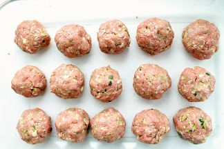 Turkey Zucchini Porcupine Meatballs