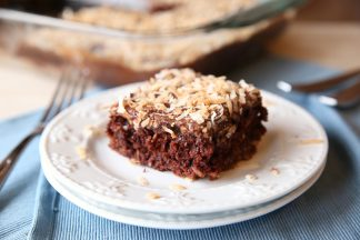 Lazy Day Chocolate Coconut Cake
