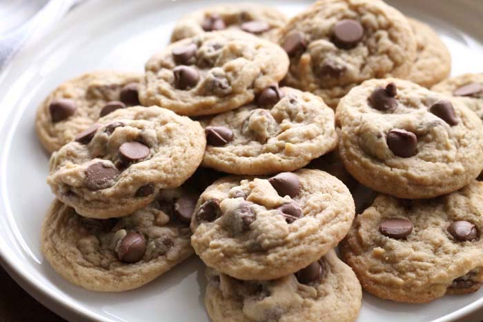 plate of delicious soft, chewy chocolate Chip Cookies