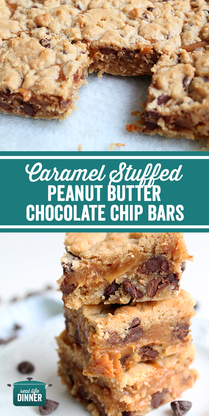 Caramel_Stuffed_Peanut_Buttter_Chocolate_Chip_Bars collage
