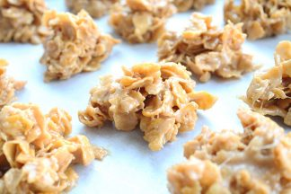 No-Bake-Peanut-Butter-Corn-Flake-Treats-recipe