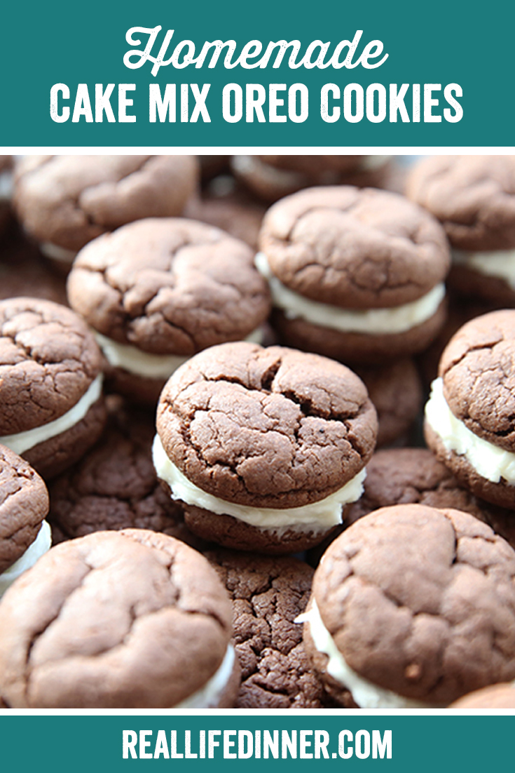 pinterest image for homemade oreo cookies, it has one image