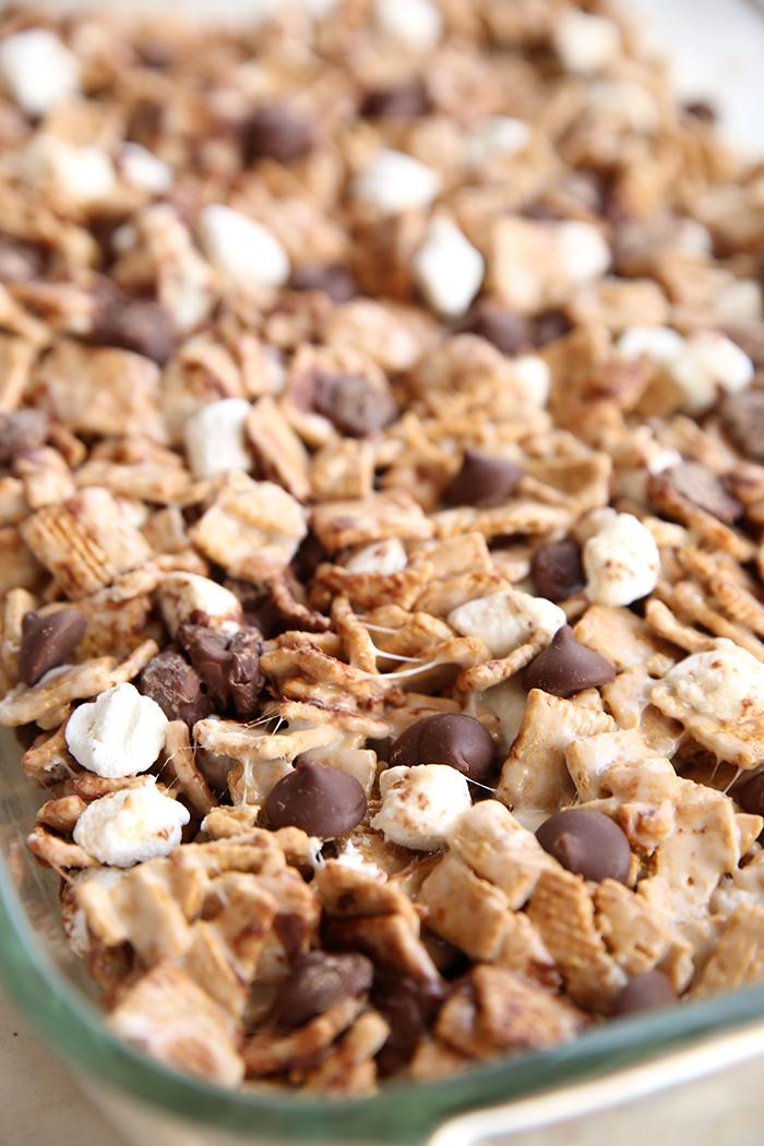 pan of no bake smore treats