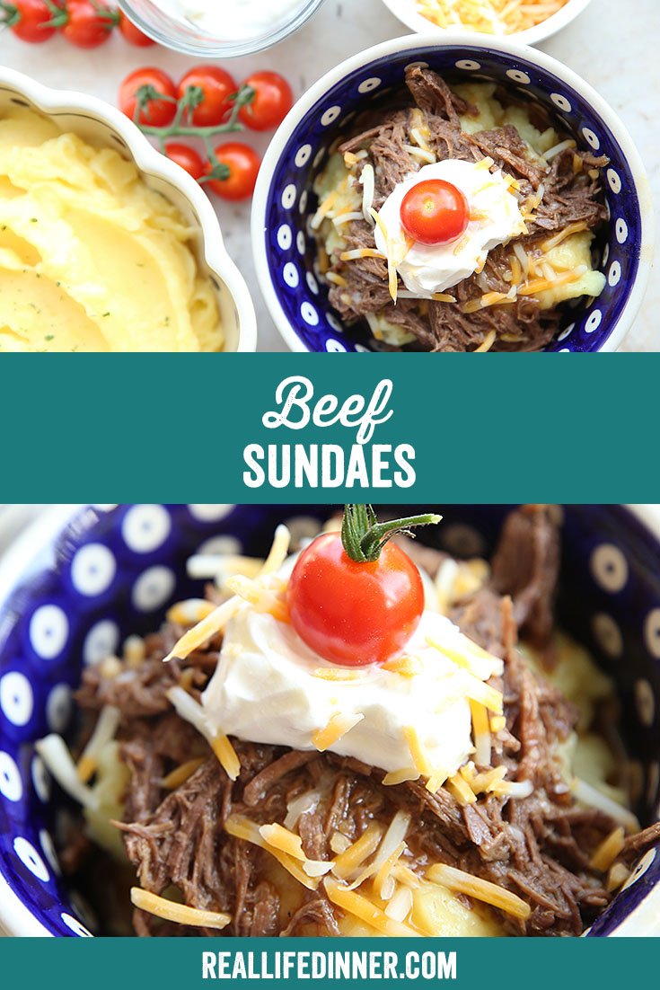 Two-photo Pinterest picture with the text of the title of the recipe in the middle.