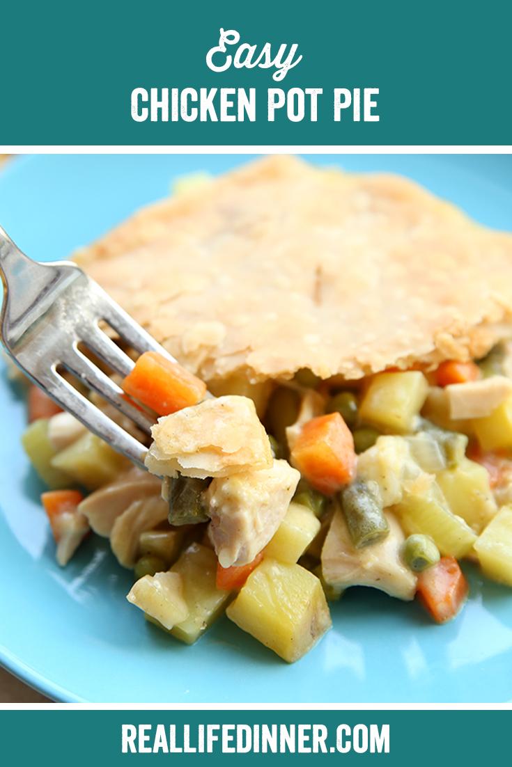 Pinterest Collage for Easy Chicken Pot Pie