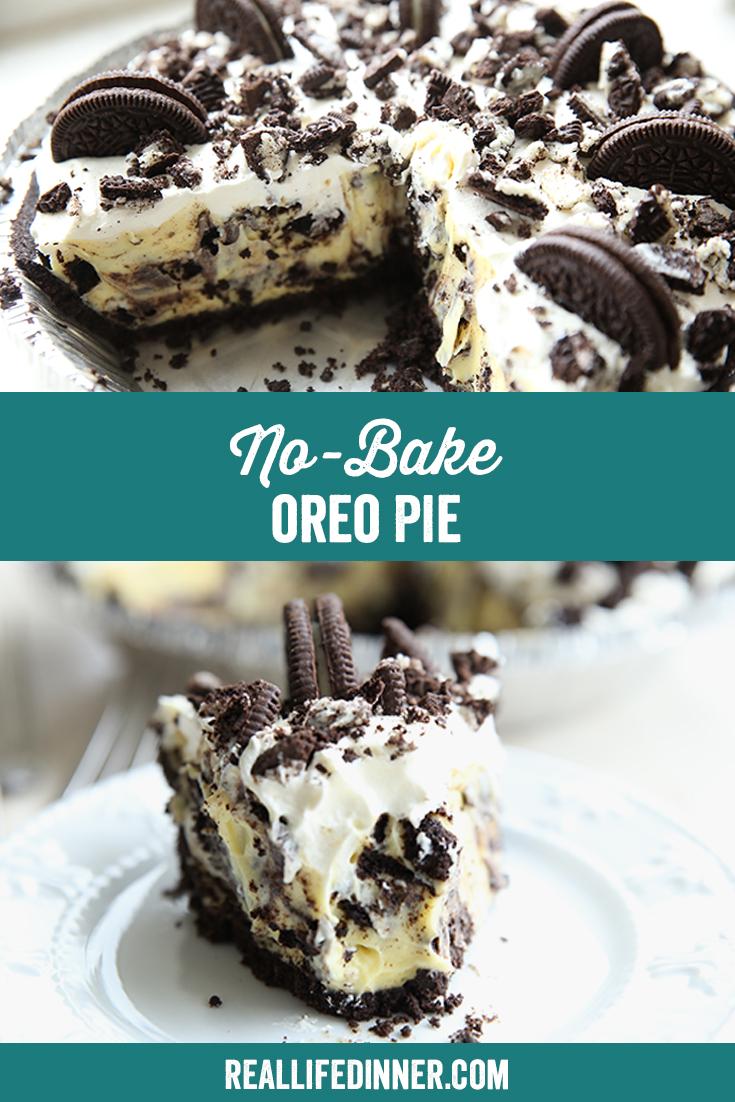 Pinterest Image of No Bake Oreo Pie